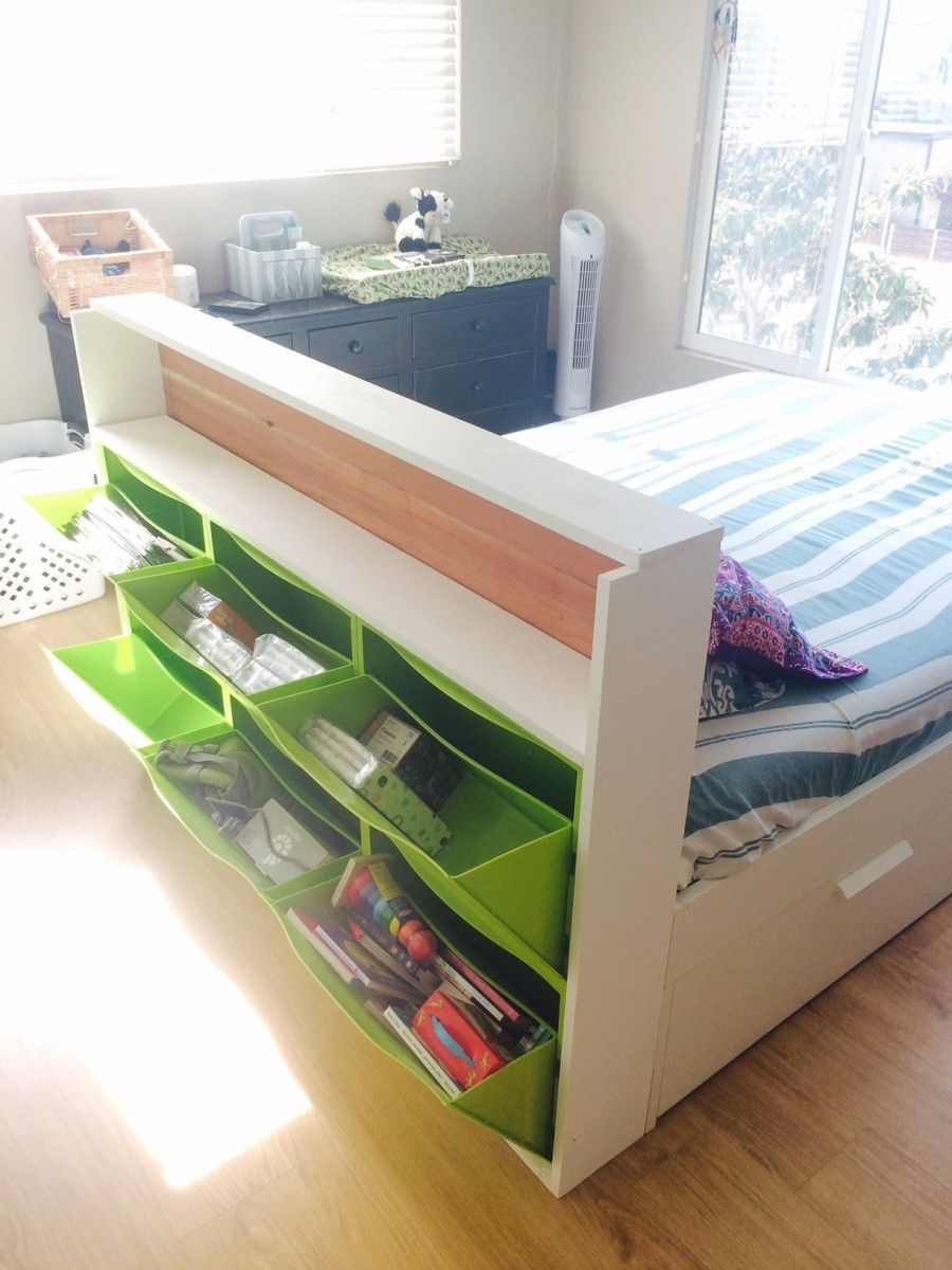 ikea trones storage headboard ikea hackers ikea hacks on innovative ideas for useful beds with storages how to declutter your bedroom id=12874