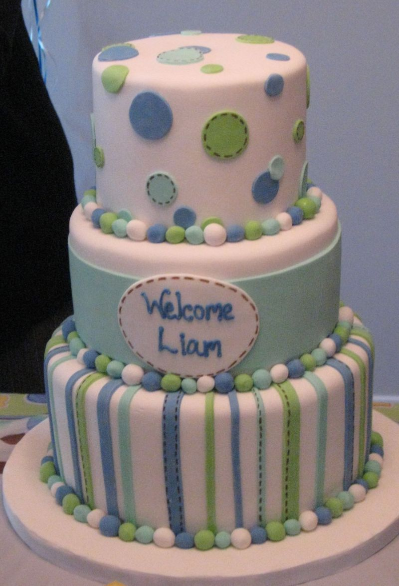 Cake decorating ideas for baby boy shower for Baby boy cake decoration ideas