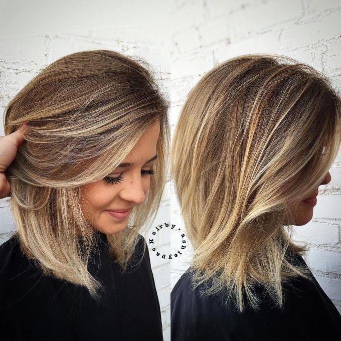 medium hair with blonde balayage | hairstyles | pinterest | blonde