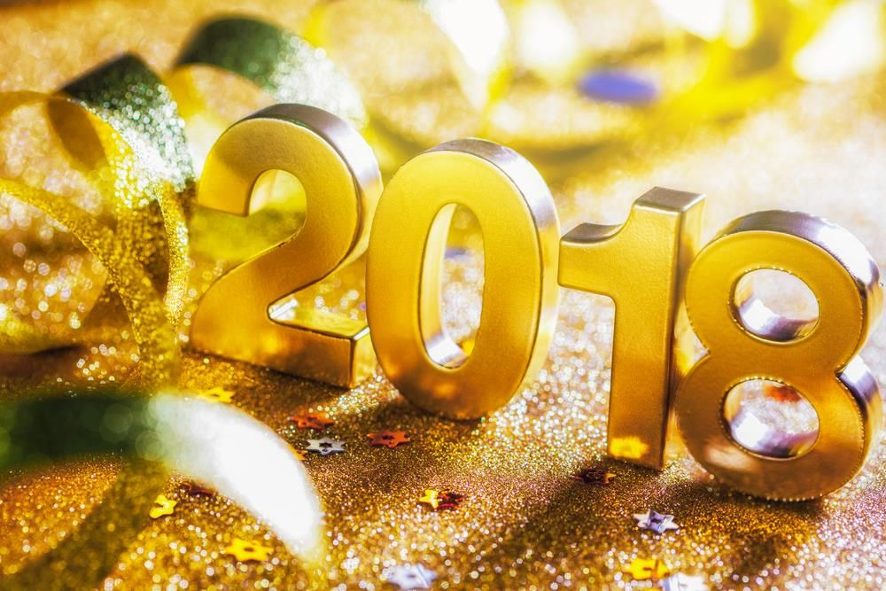 happy new year 2018 background hd