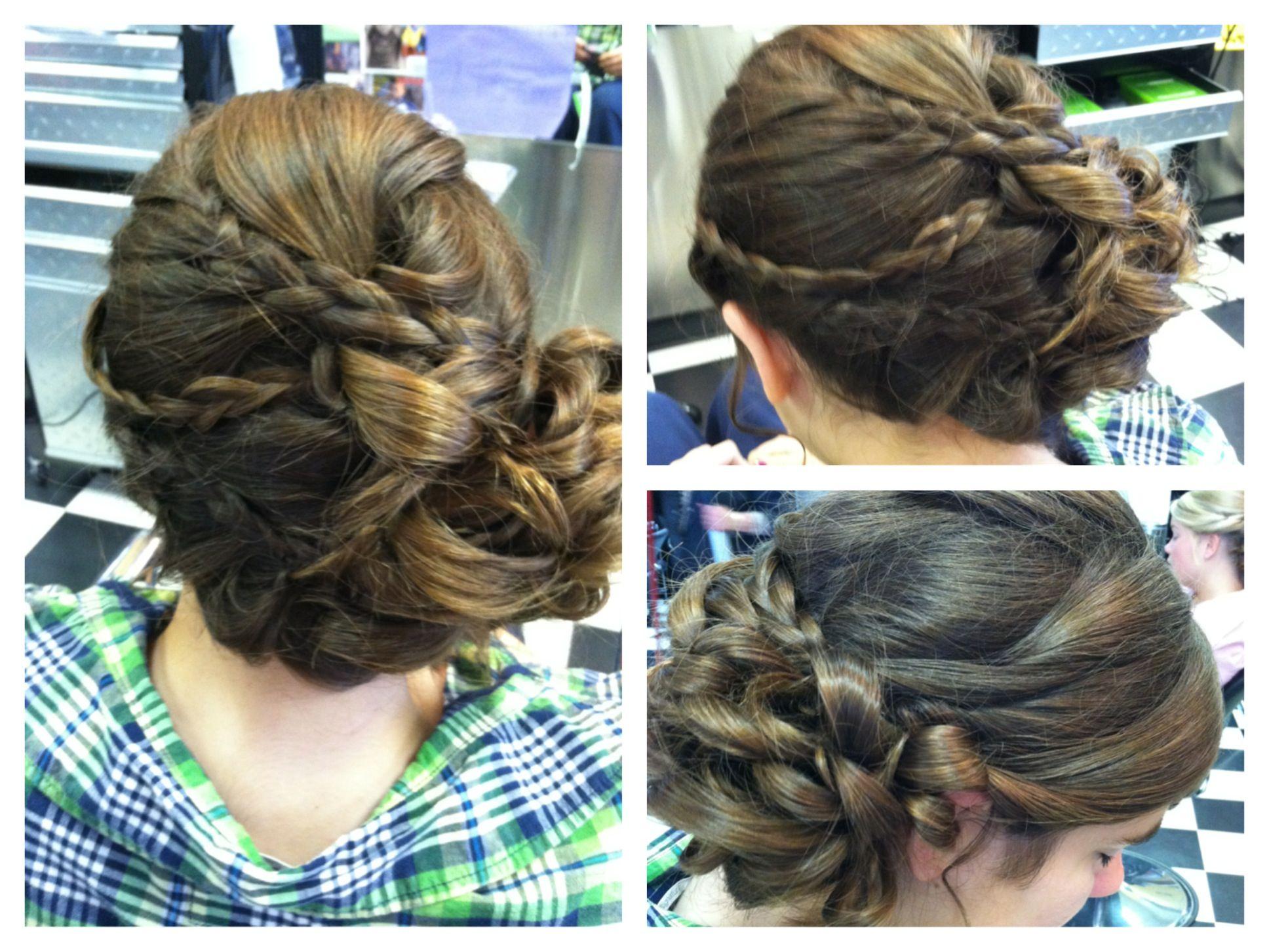 Bridesmaid Hair Updo Long hair Wedding hair home ing hair
