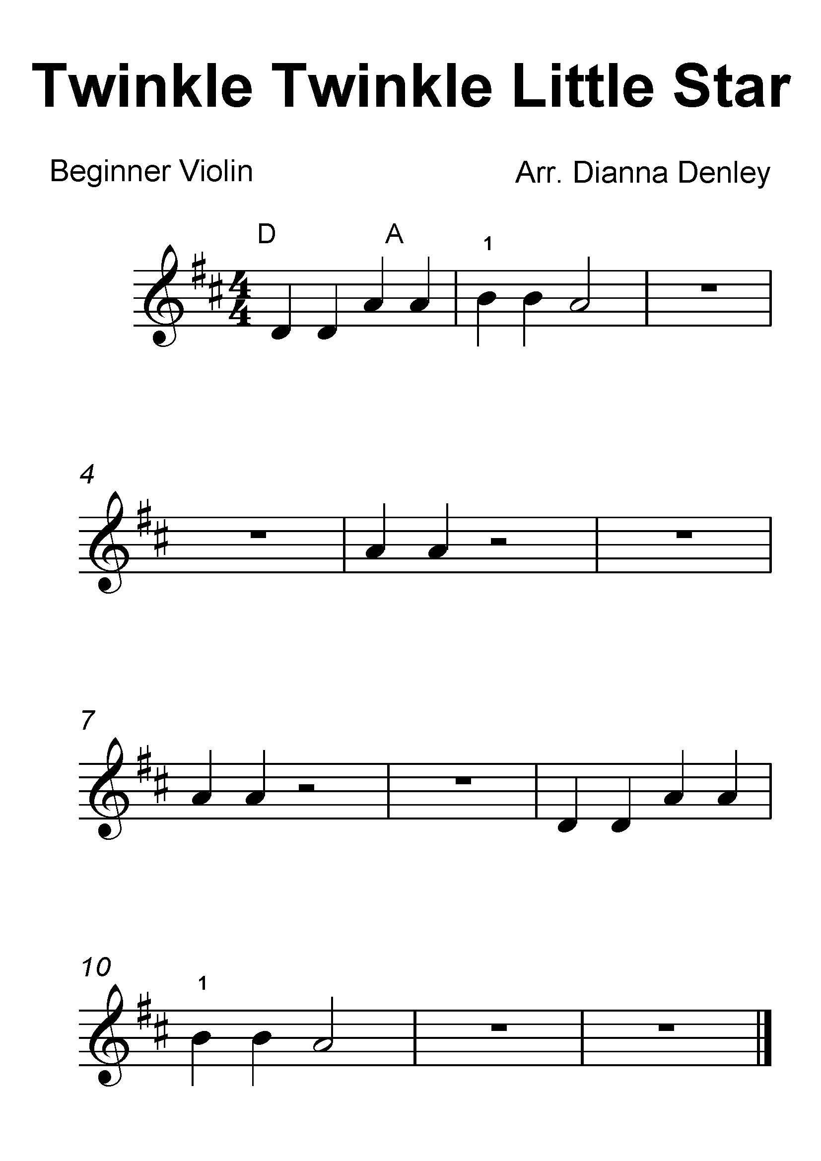 Sheet Music Violin Beginner Free
