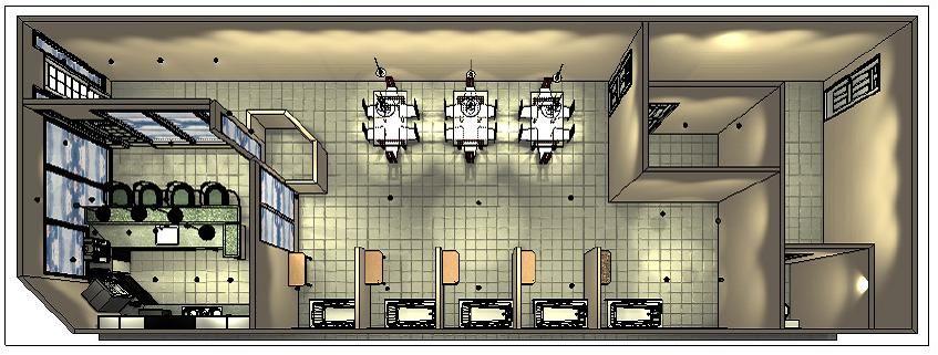 Birds Eye View Of Perk -n- Pooch Floor Plan 2012