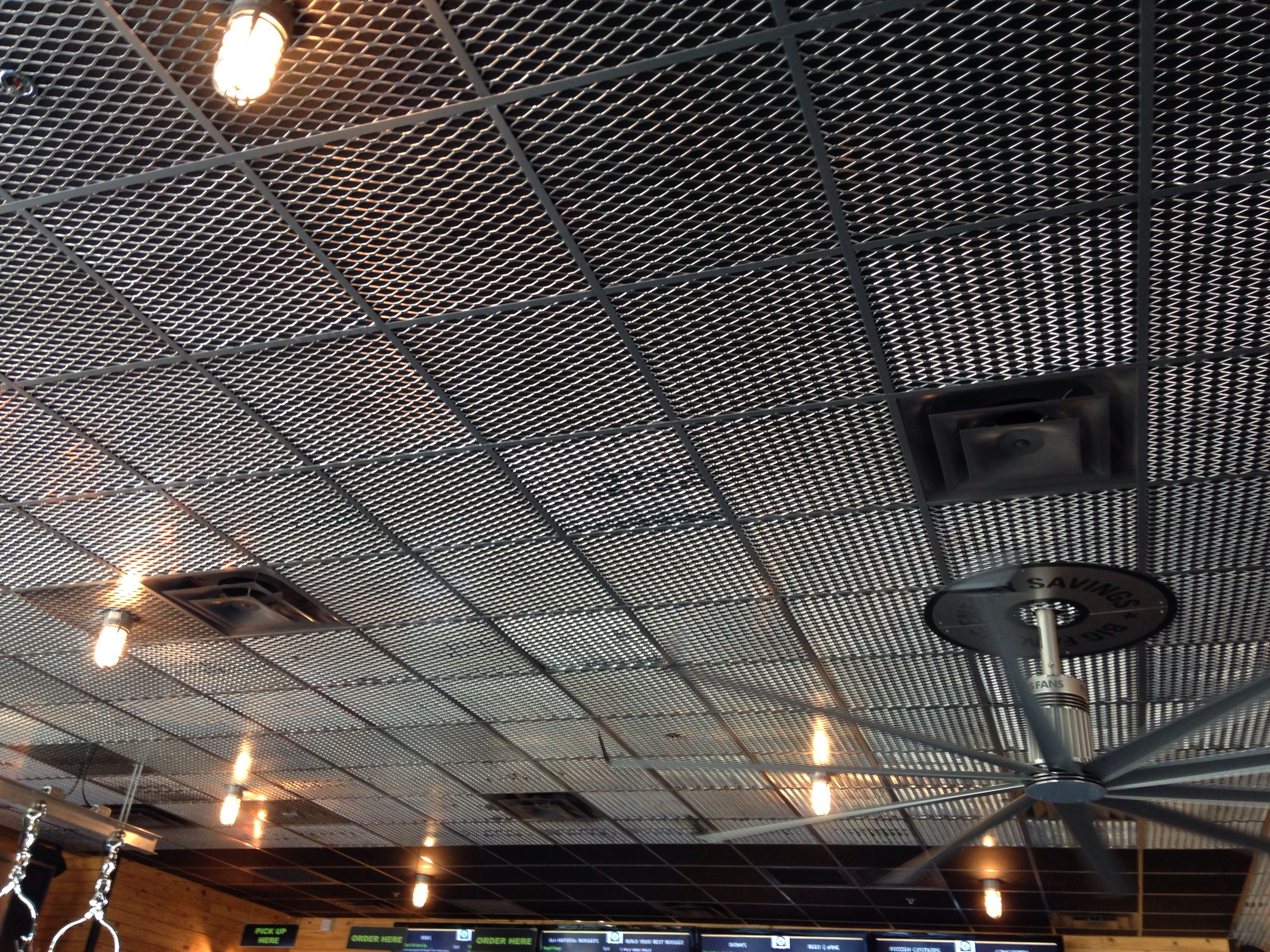 Cool Drop Ceiling From Expanding Metal Grate