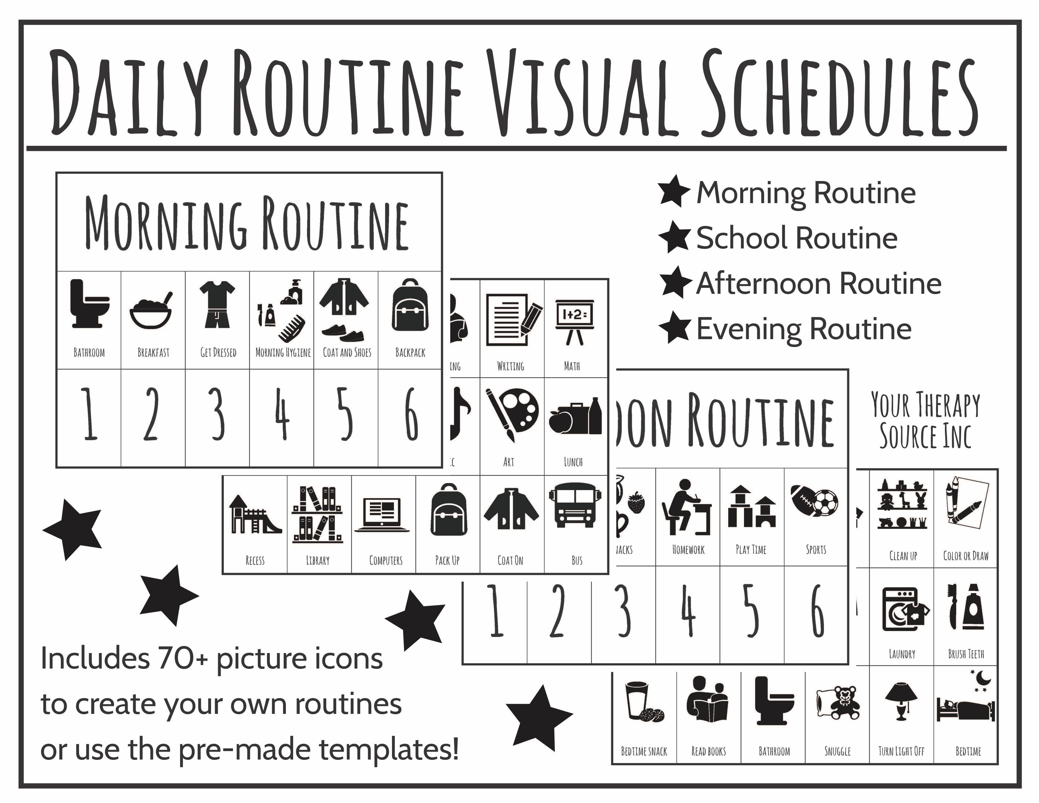 Daily Routine Visual Schedules Digital Download Includes