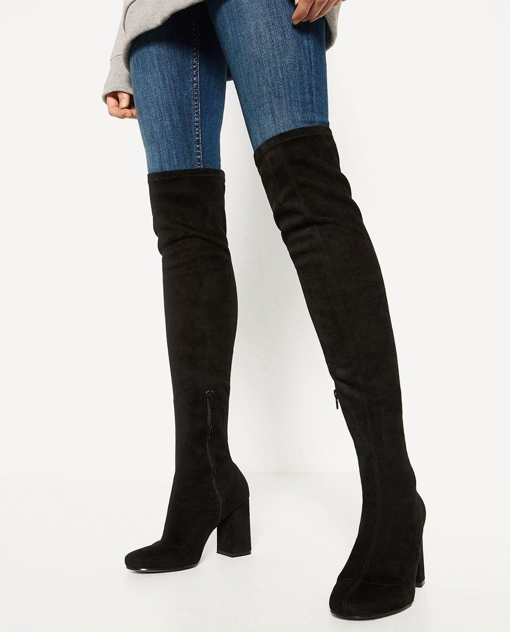 Rezultate imazhesh për high thigh boots zara
