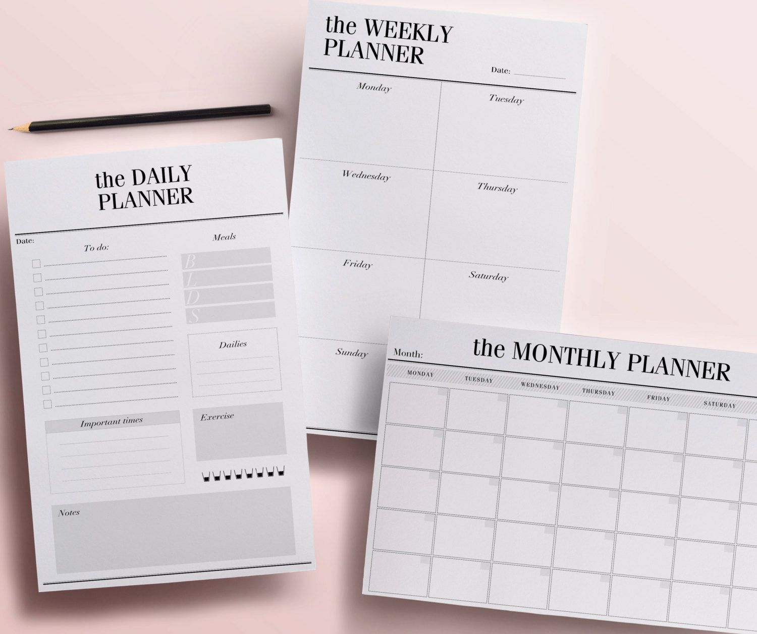 Printable Planner Pages Daily Weekly And Monthly