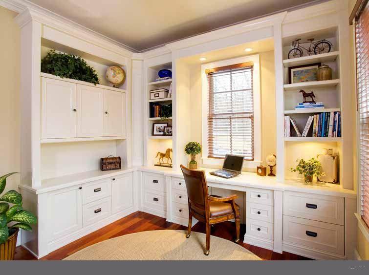 Custom Home Office Desk Cabinetry