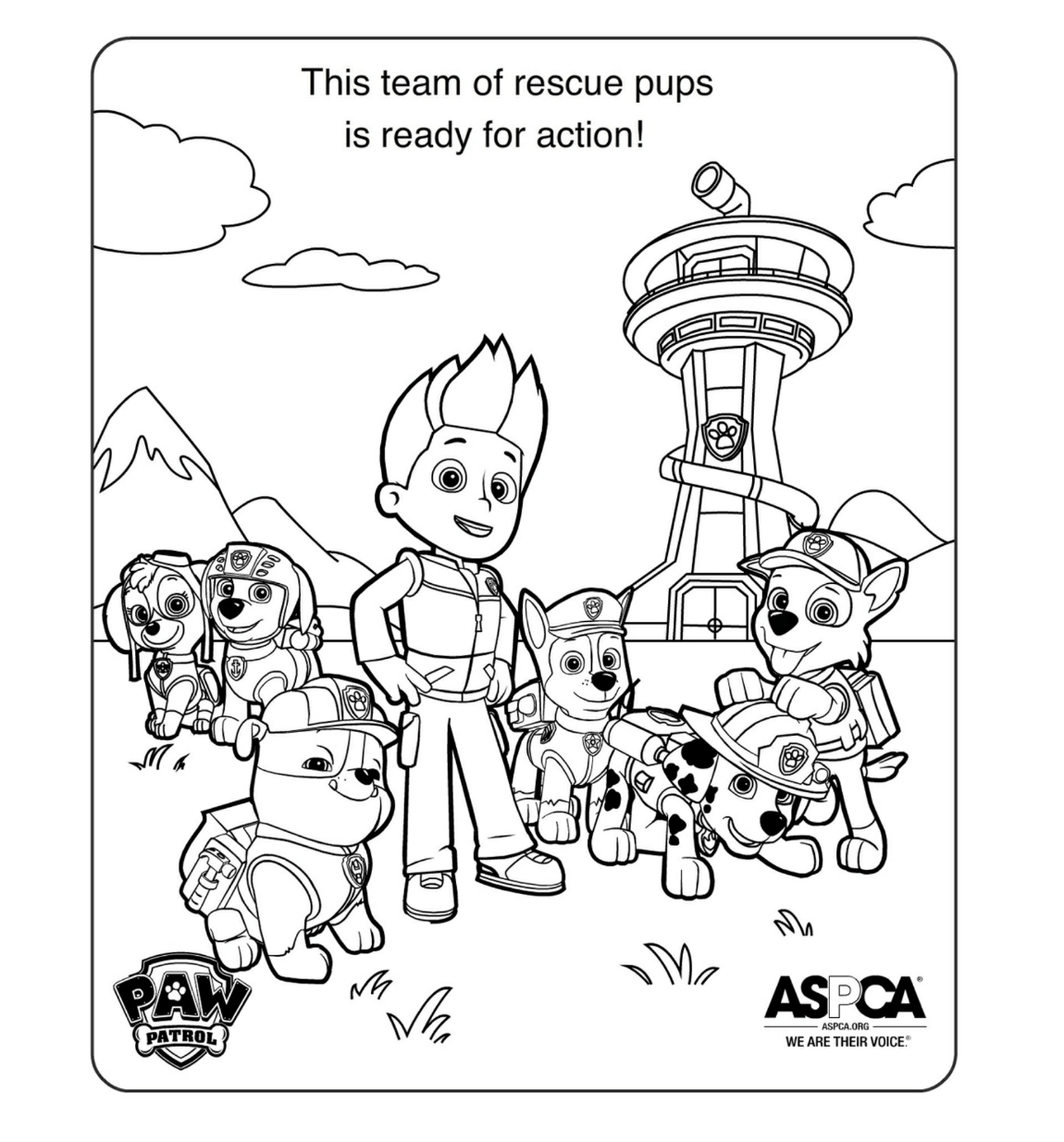 PAW Patrol Coloring Pages Paw Patrol Party Pinterest