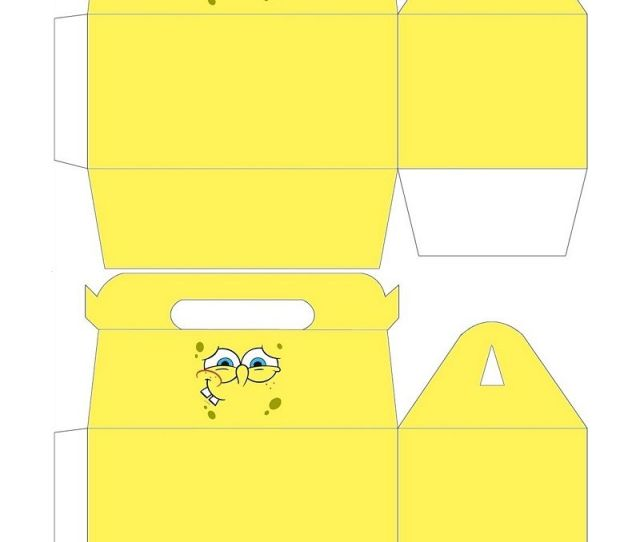 Free To Use Free To Share Spongebob Gable Box For Your Next Spongebob Party