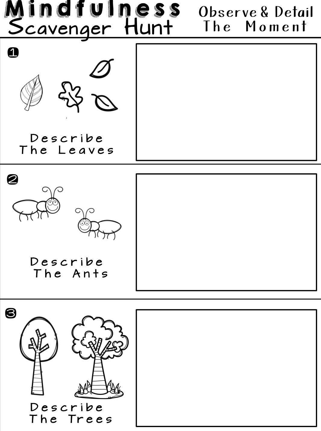 Relaxation Group Worksheet