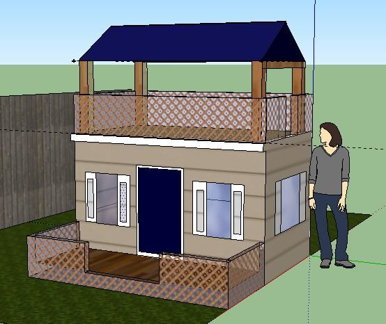 My #playhouse design created with SketchUp   Playhouse ... on Sketchup Backyard id=87402