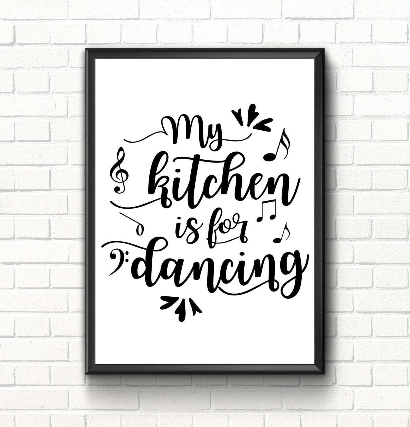 kitchen wall art kitchen quote inspirational art print my kitchen is for dancing kitchen on kitchen quotes id=77071