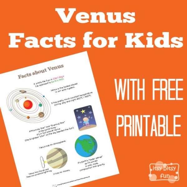 Fun Venus Facts for Kids | Venus facts, Solar system facts ...
