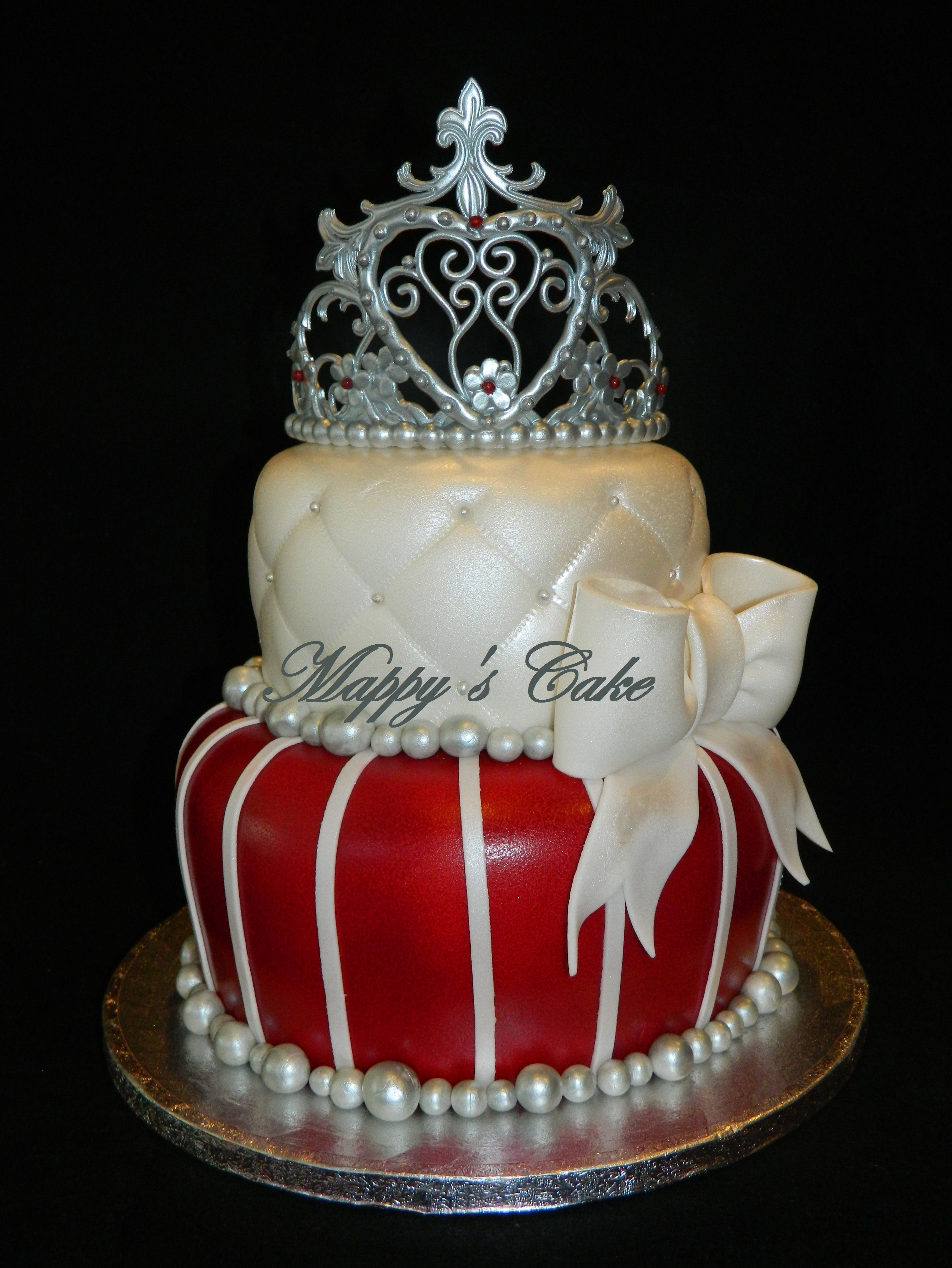 Princess Tiara Cake Would Probably Like Red White And