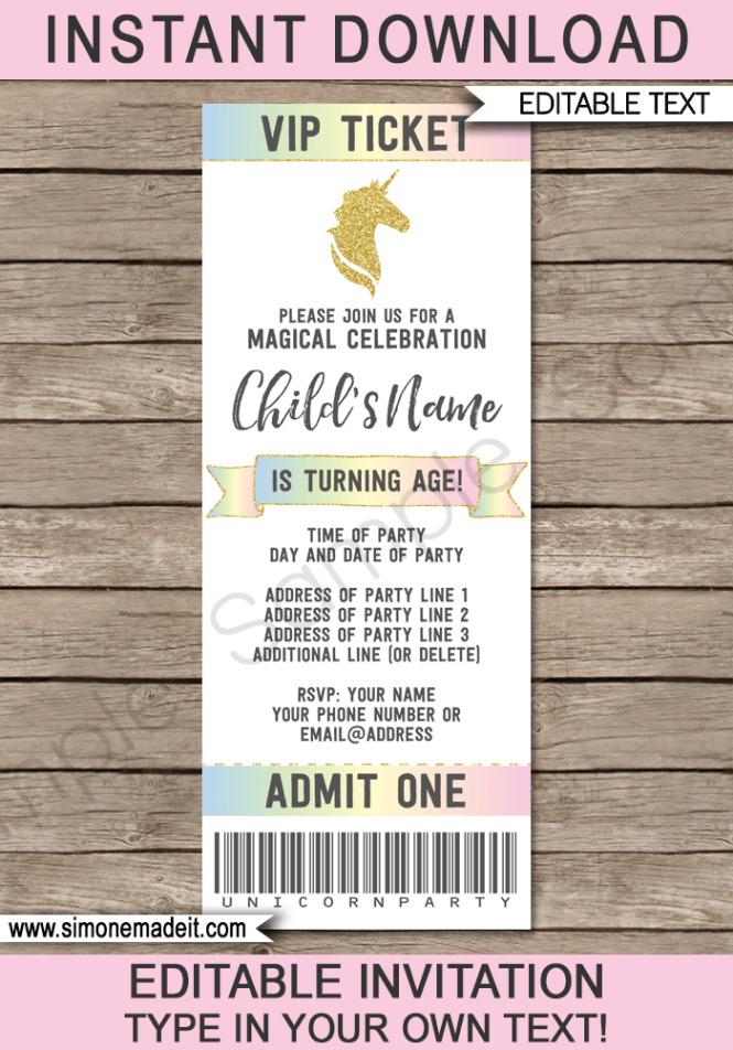magic birthday party invitation template : Cogimbo.us