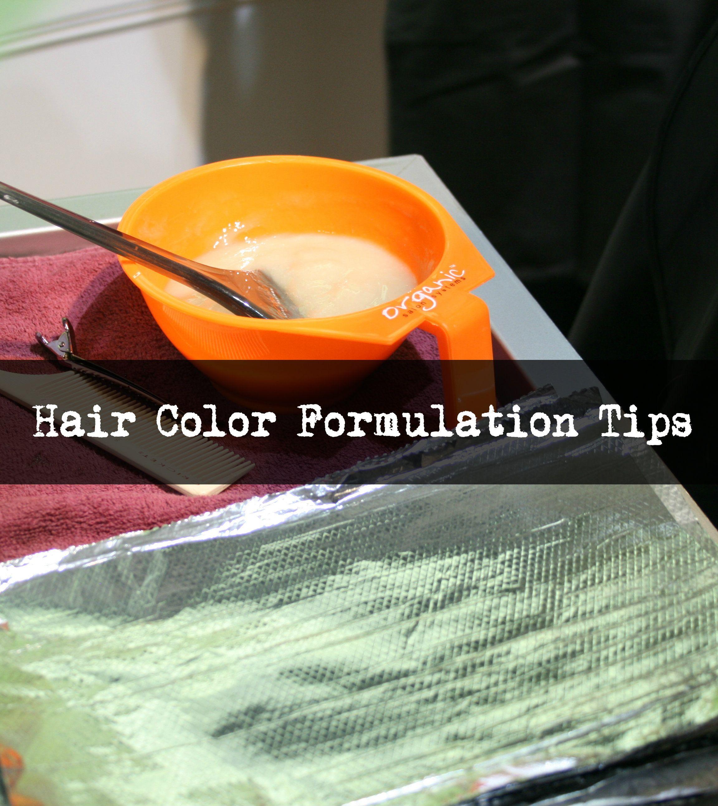 Hair Color Formulas