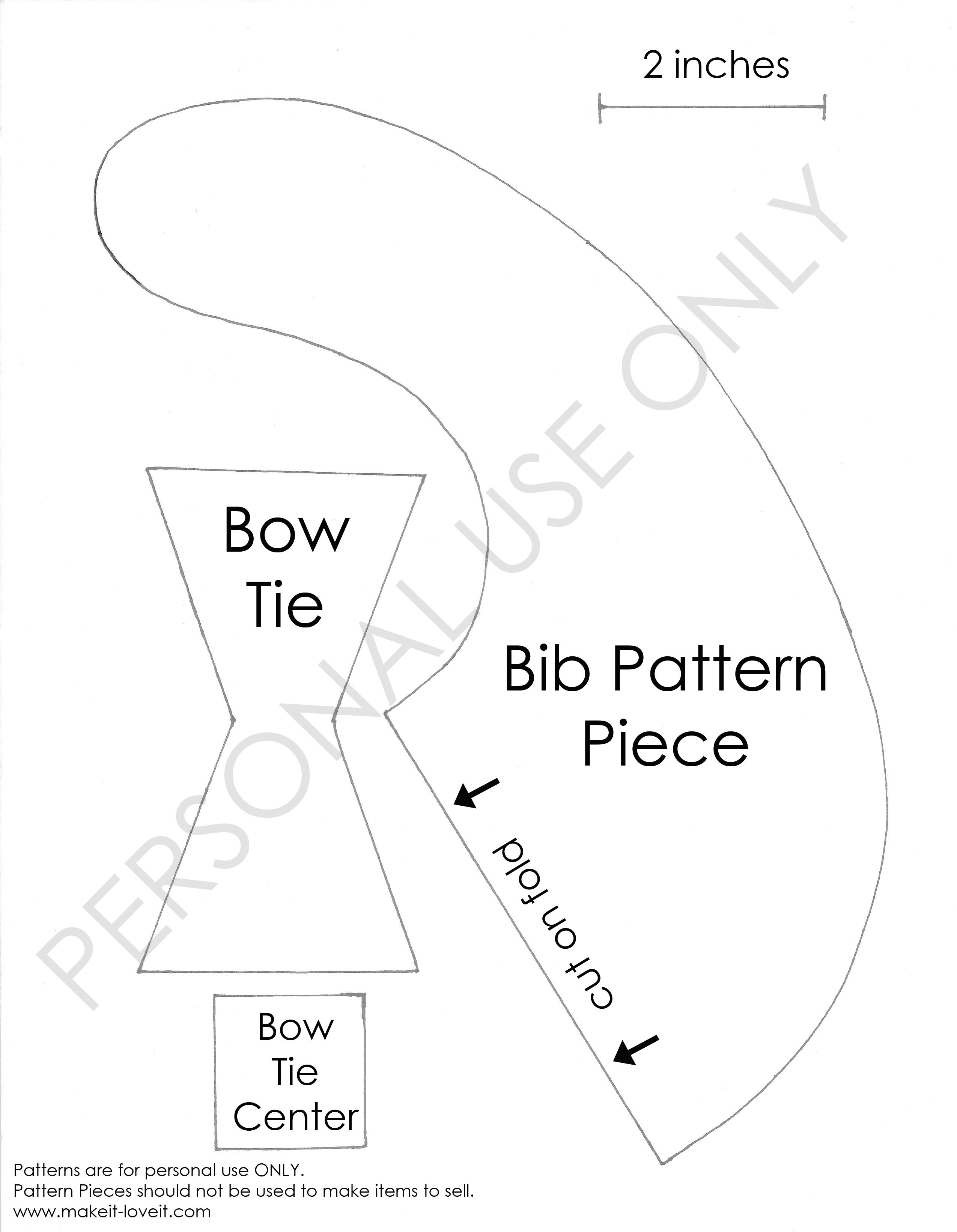 Bow Tie Drool Bib Tutorial Found Here Copy And Paste The
