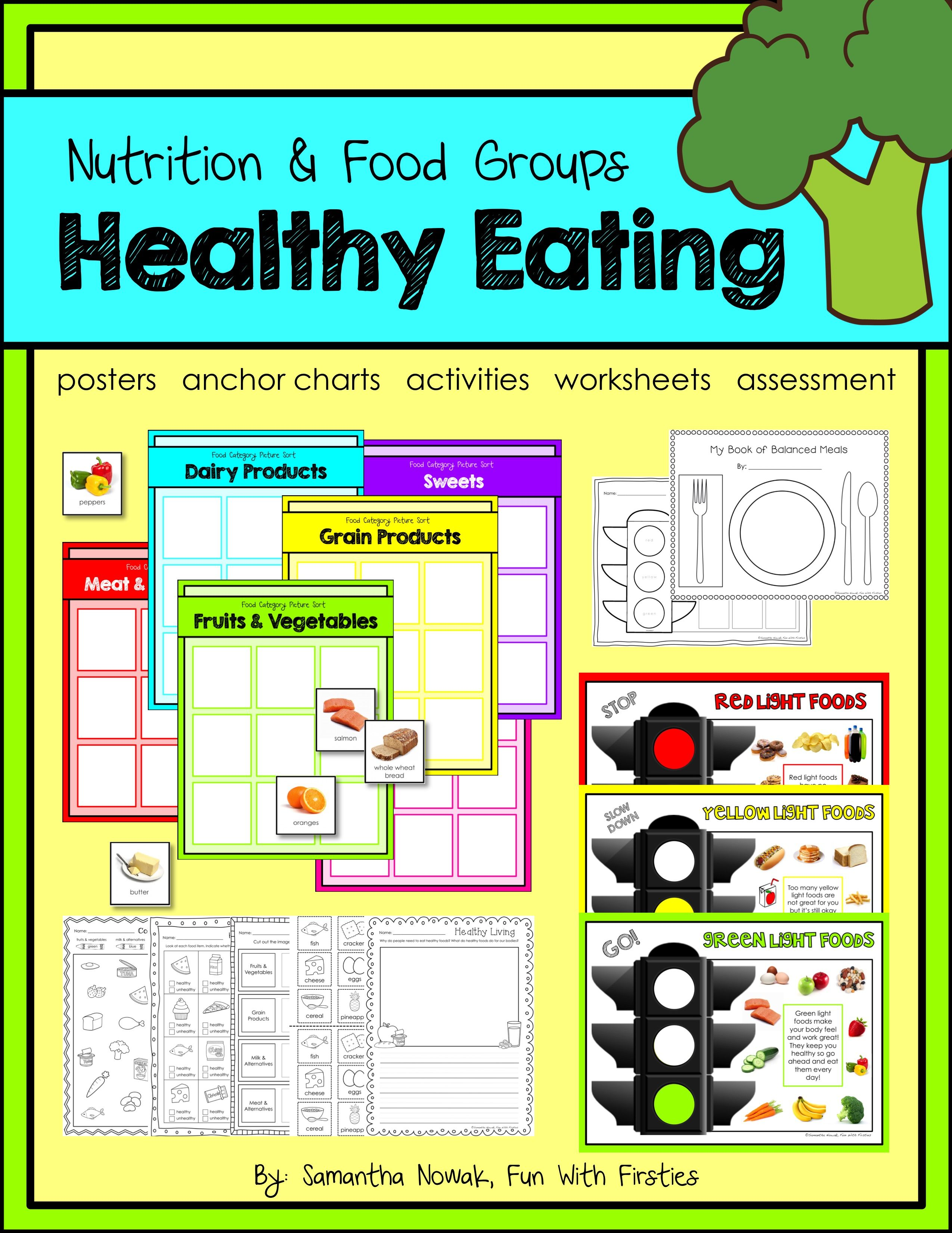Healthy Eating A Nutrition Amp Food Groups Pack With Activities Posters Amp More
