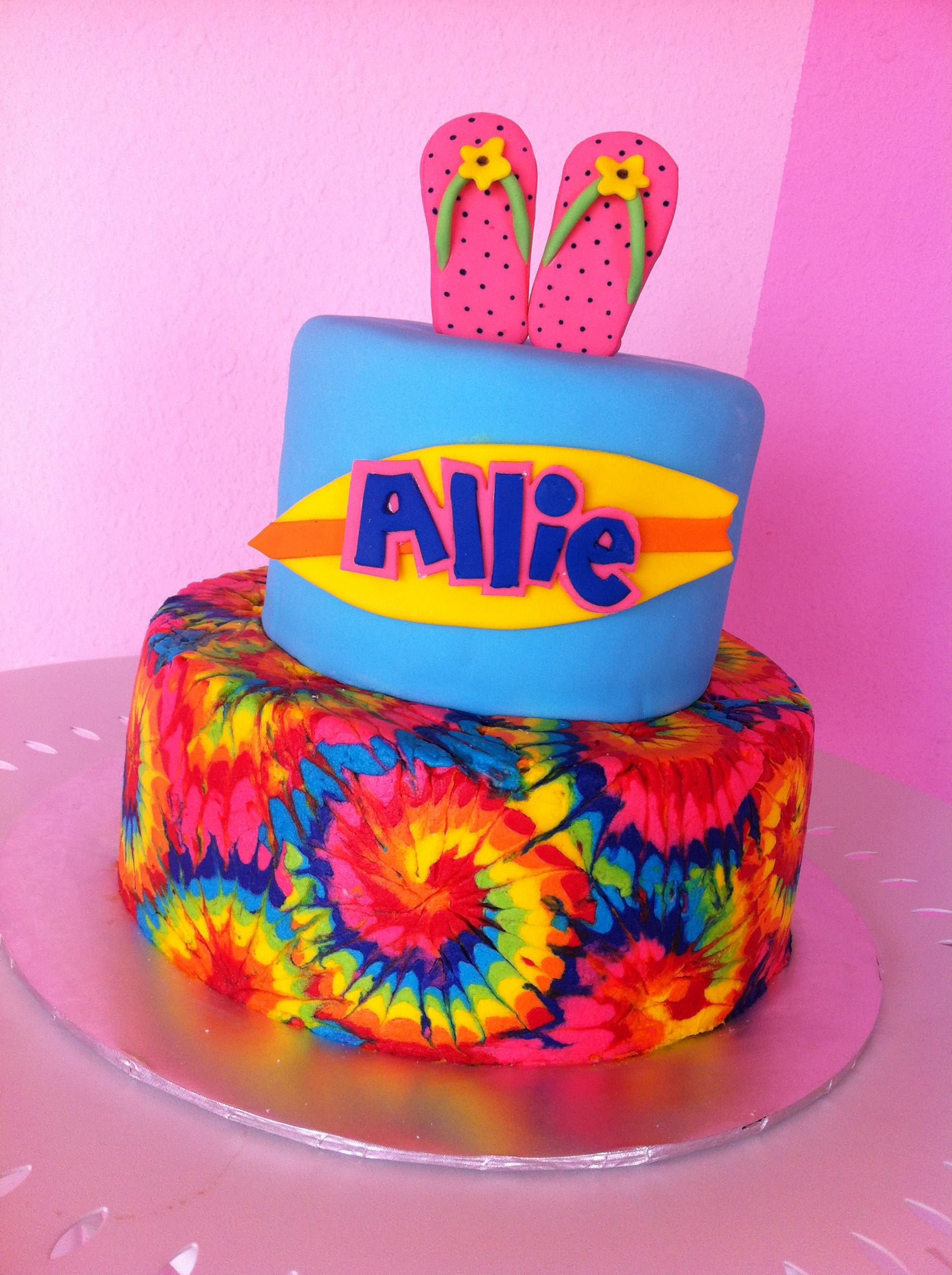 Tie Dye Cake That I Made
