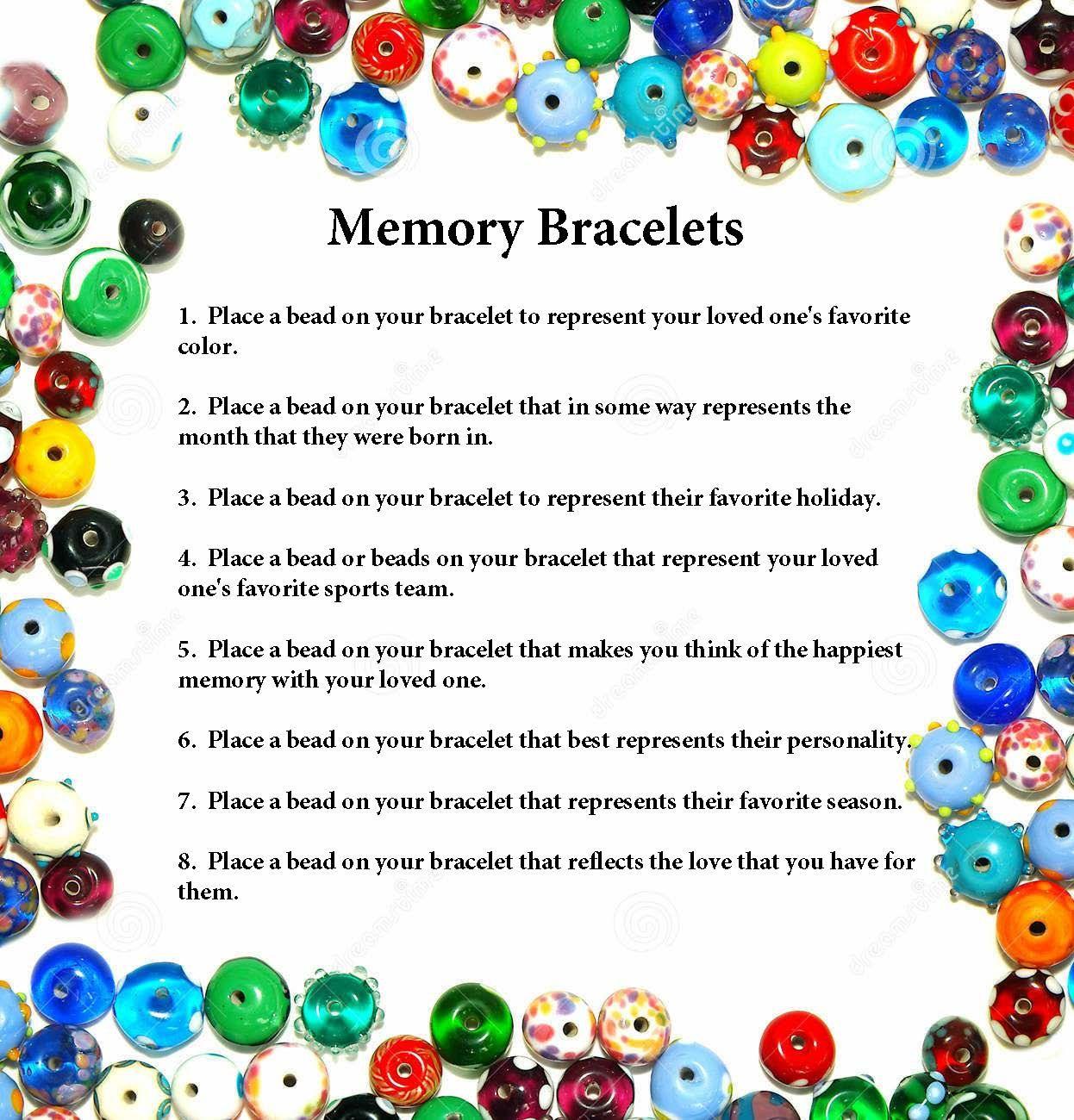 Memory Bracelets For Grieving