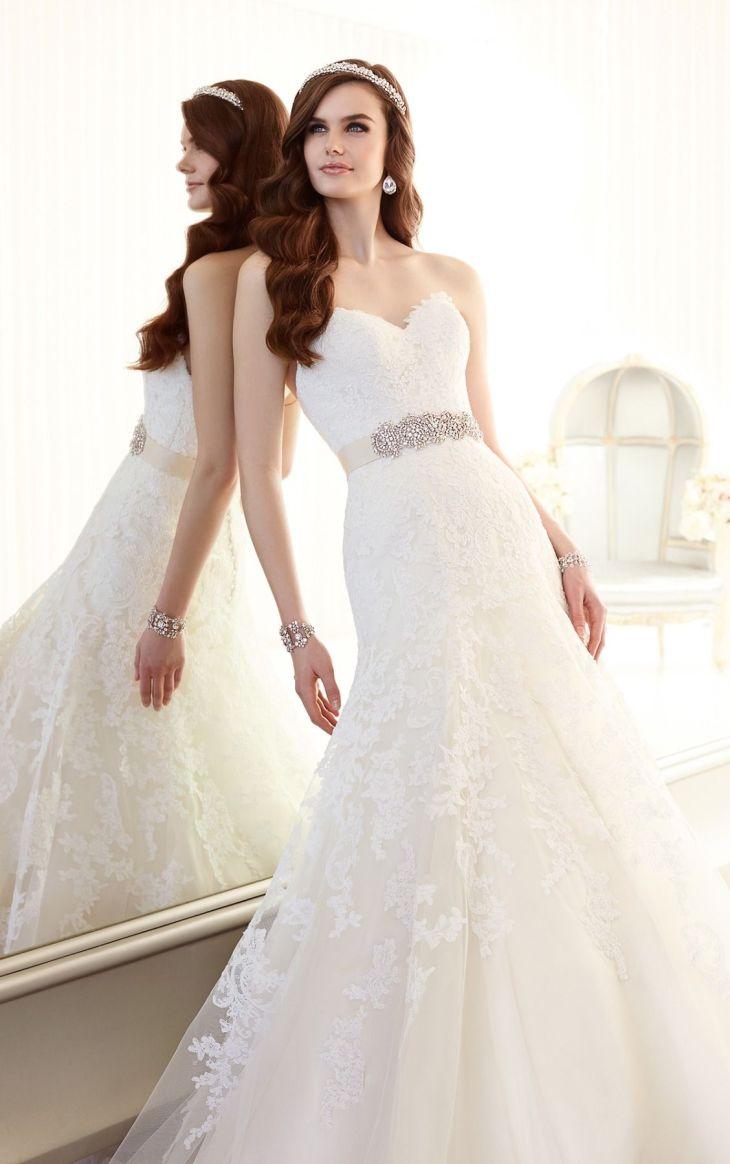 Lace Vintage Wedding Dress from Essense of Australia Style D