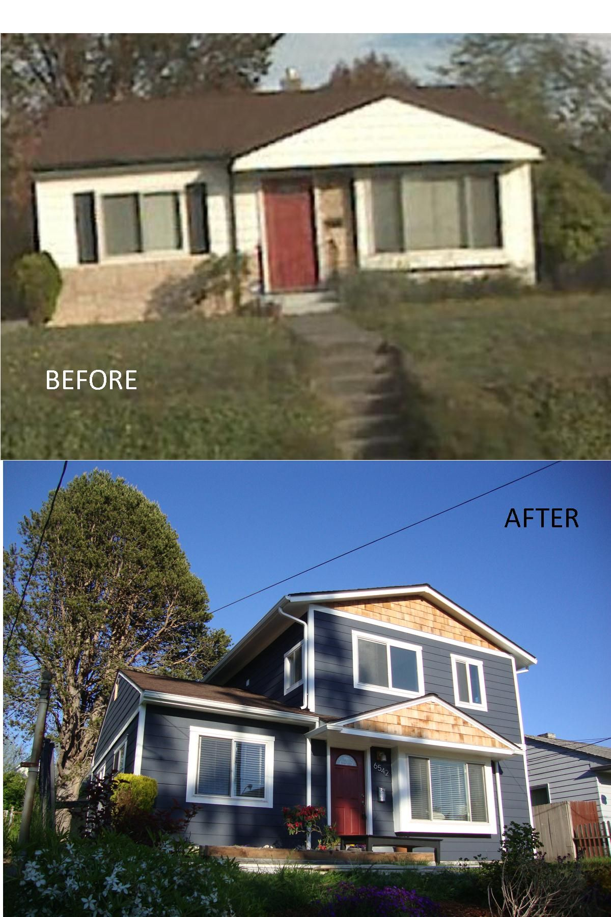Before And After Shot Of A Home In Seattle S Ballard