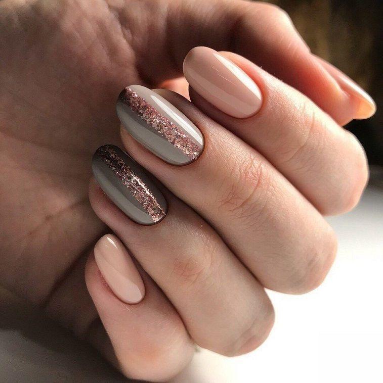 54 Beautiful Neutral Nail art design - neutral nails, nude nails ,nail acrylic ,nails #nailart #nails #manicure #nail