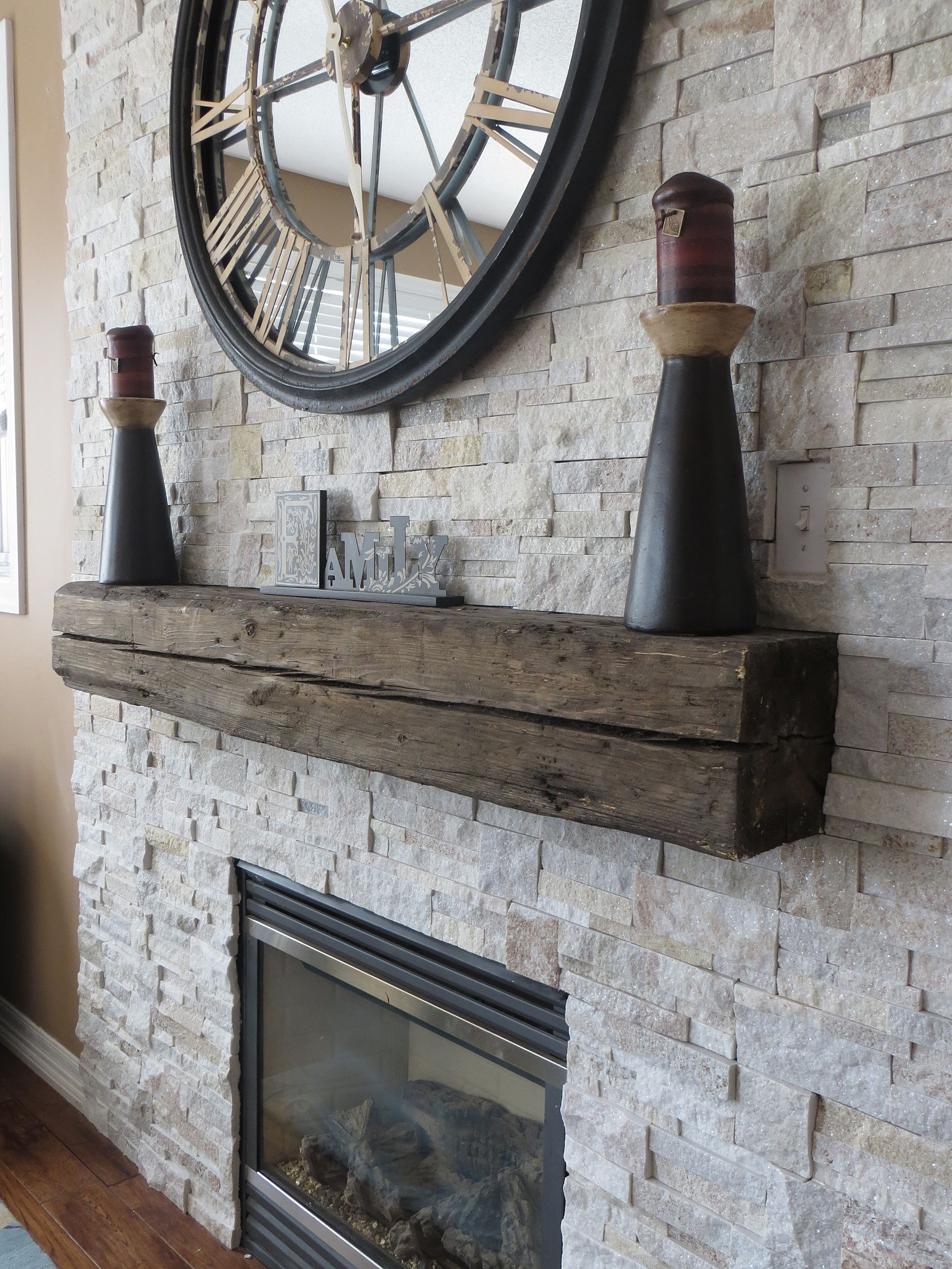 Beautiful Stone Veneer Surround For Gas Fireplace With