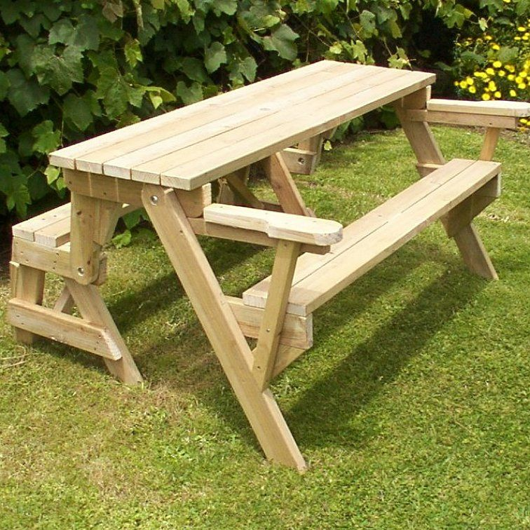 How To Build A 1 Piece Folding Picnic Table Folding