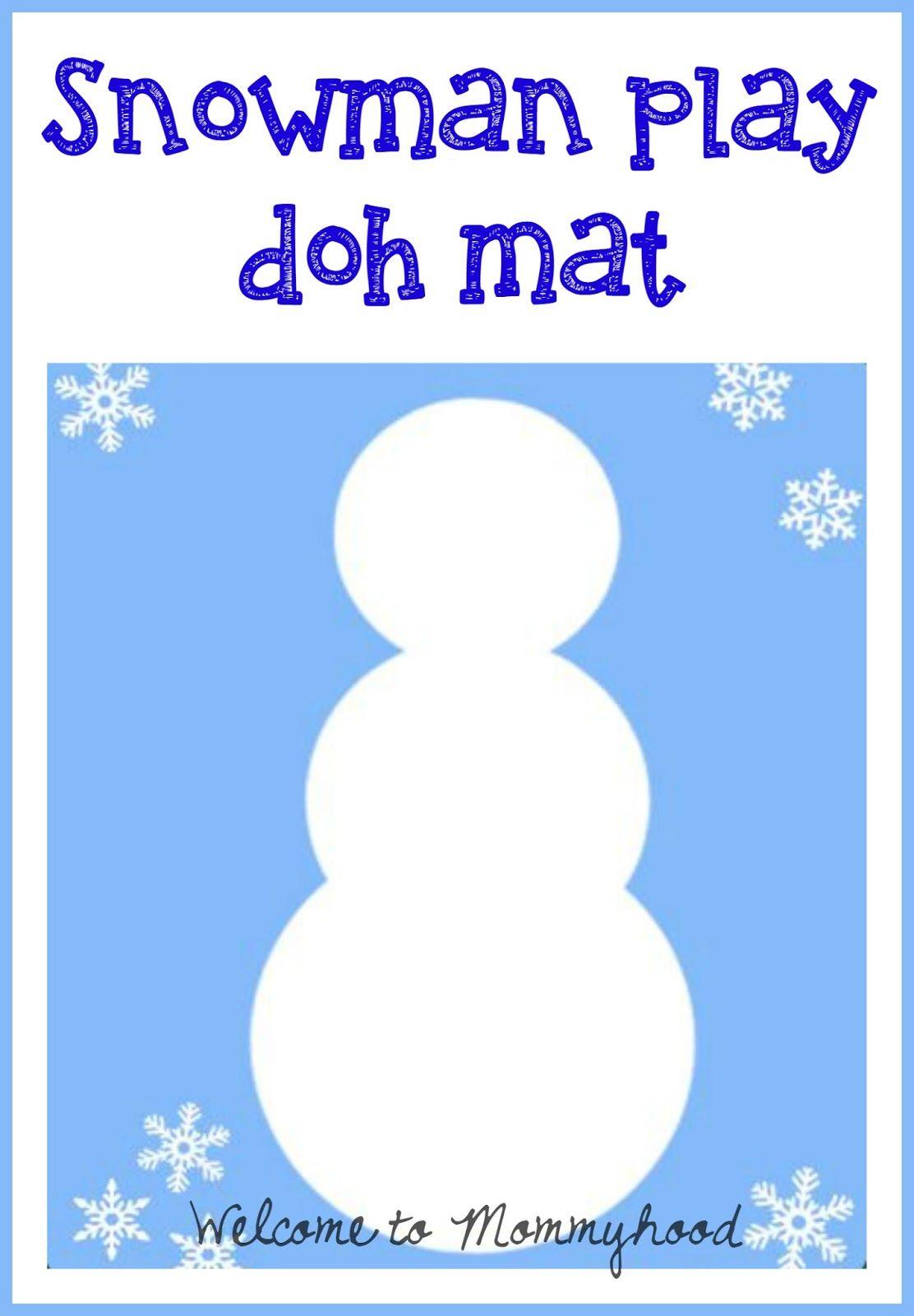 Playdough Activities Winter Snowman Play Doh Mat