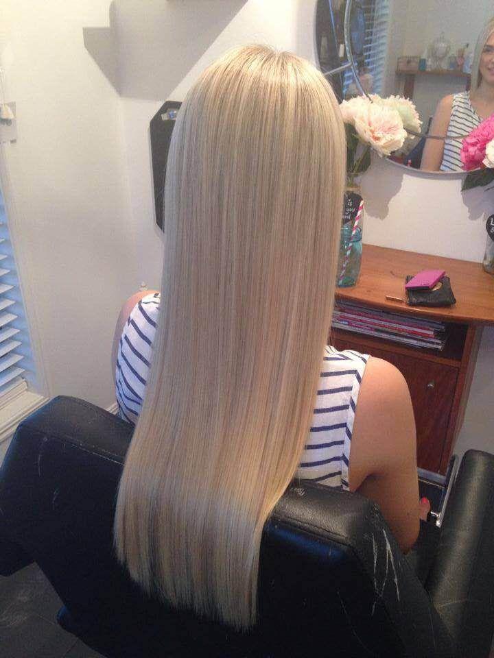 Ice Queen Platinum Blonde ZALAs Tape Hair Extensions