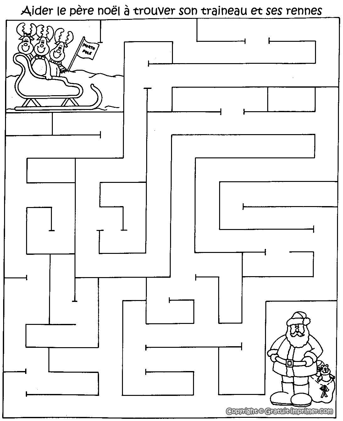 Jeu Labyrinthe Gratuit Pour Enfant Avec Pere Noel Et Ses