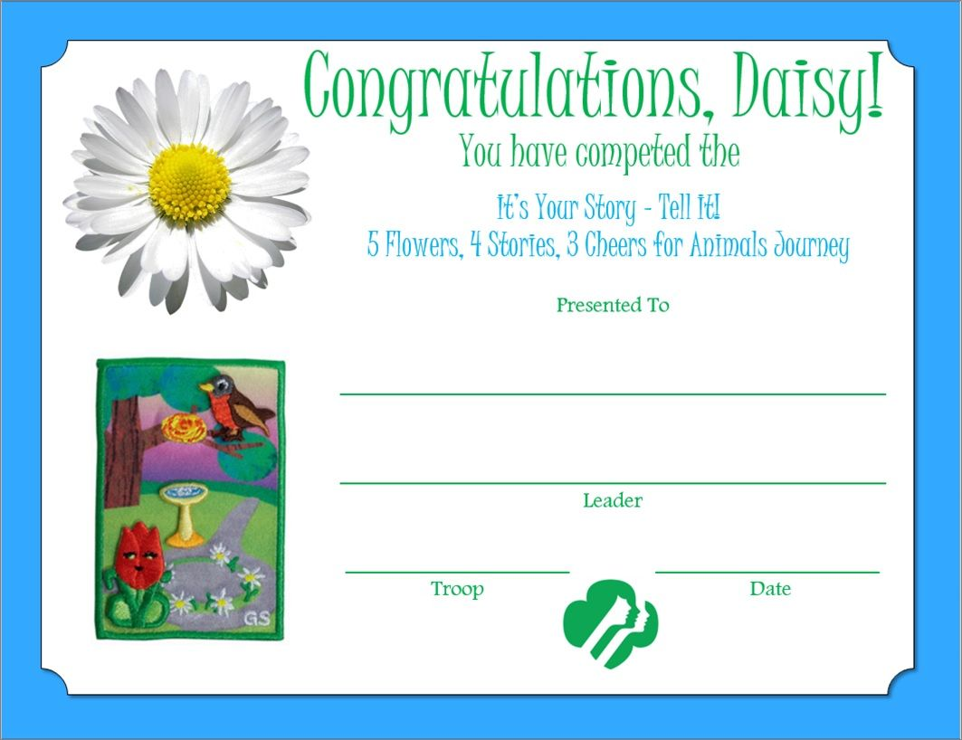 Daisy 5 Flowers 4 Stories 3 Cheers For Animals Journey