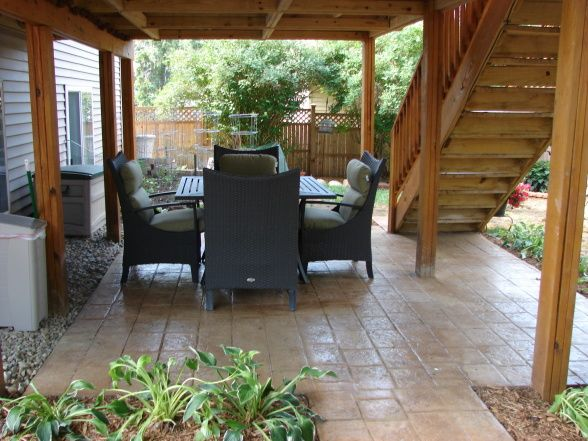 Patio under deck design ideas, how to make a garden out of ... on Under Deck Patio Ideas id=55555