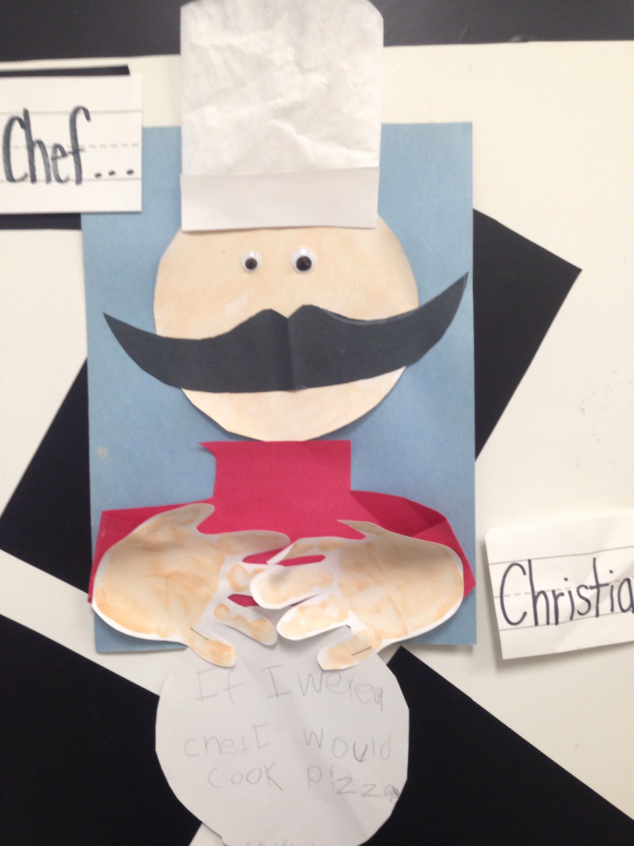 Occupations Prek Preschool Craft If I Were A Chef I