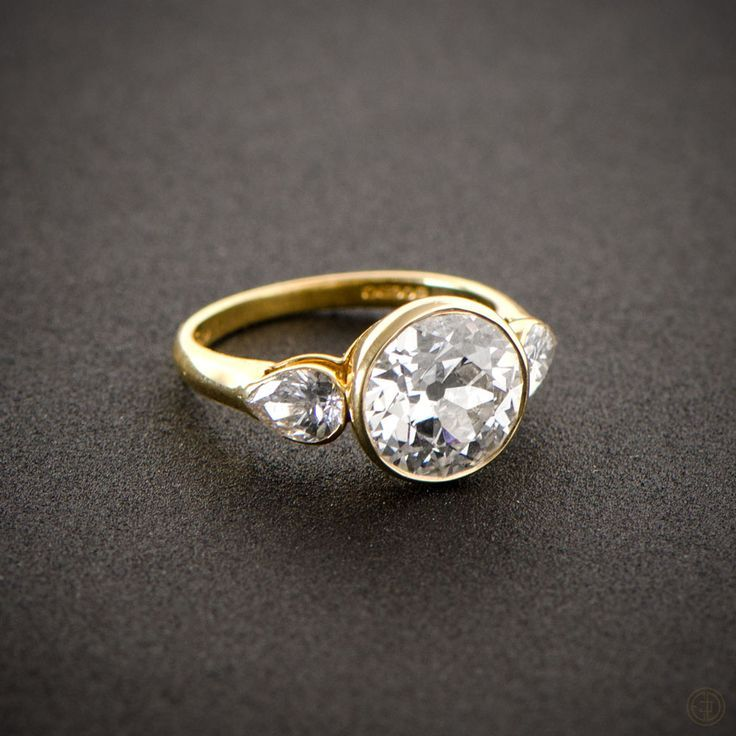 English Vintage Style Engagement Ring Vintage Engagement