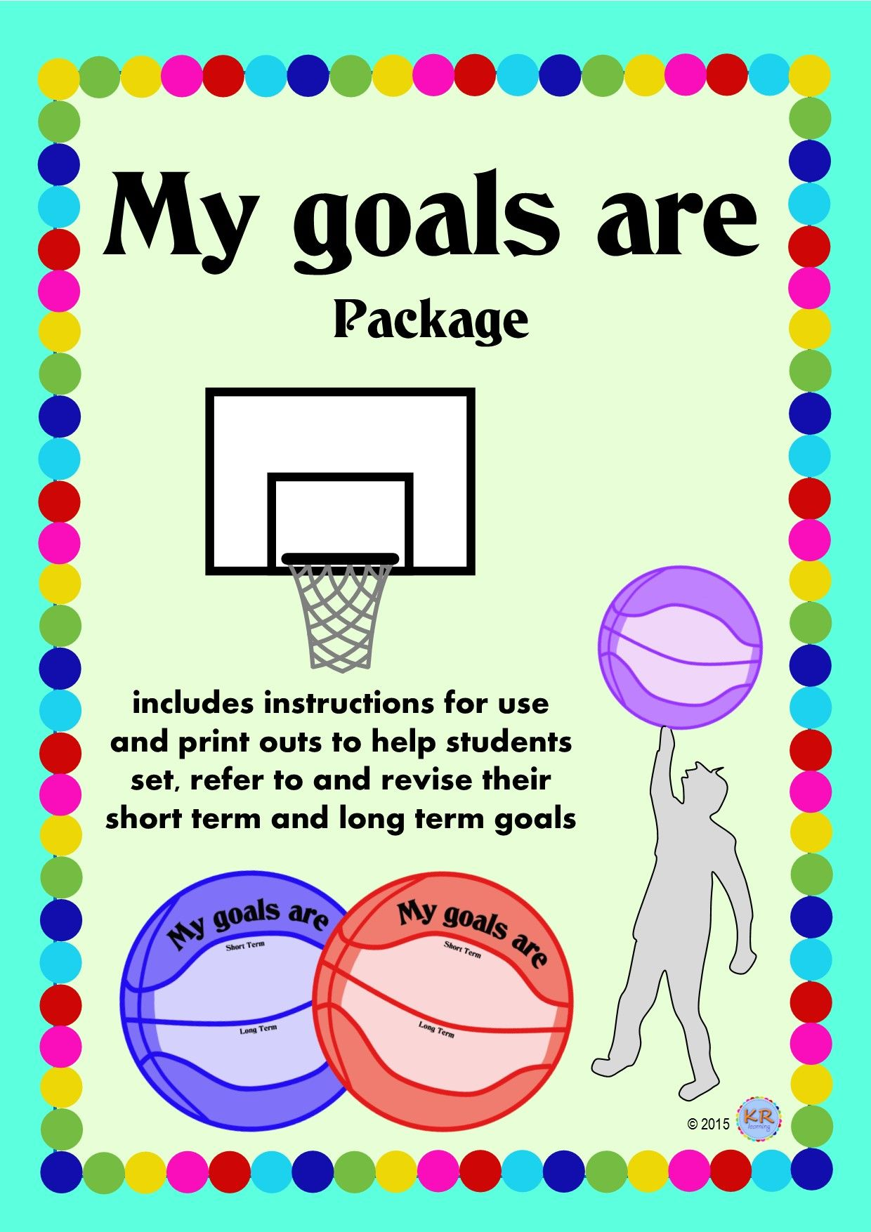 My Goals Are Goal Shooting Basketballs For Students To