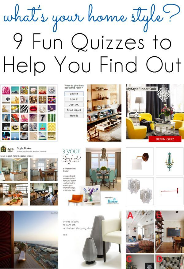 Home decorating styles quiz for Home decorating ideas quiz