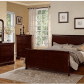 Poundex louis phillipe bedroom set featuring french style sleigh