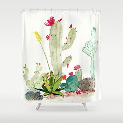 cactus shower curtain bathroom ideas pinterest cacti on sweet dreams for your home plants decoration precautions and options id=69378