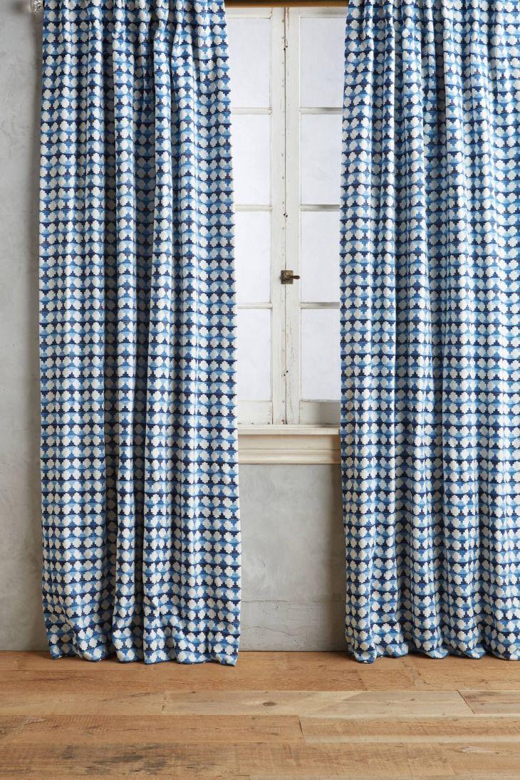 Arima Geometric Curtain  anthropologie  potter decor