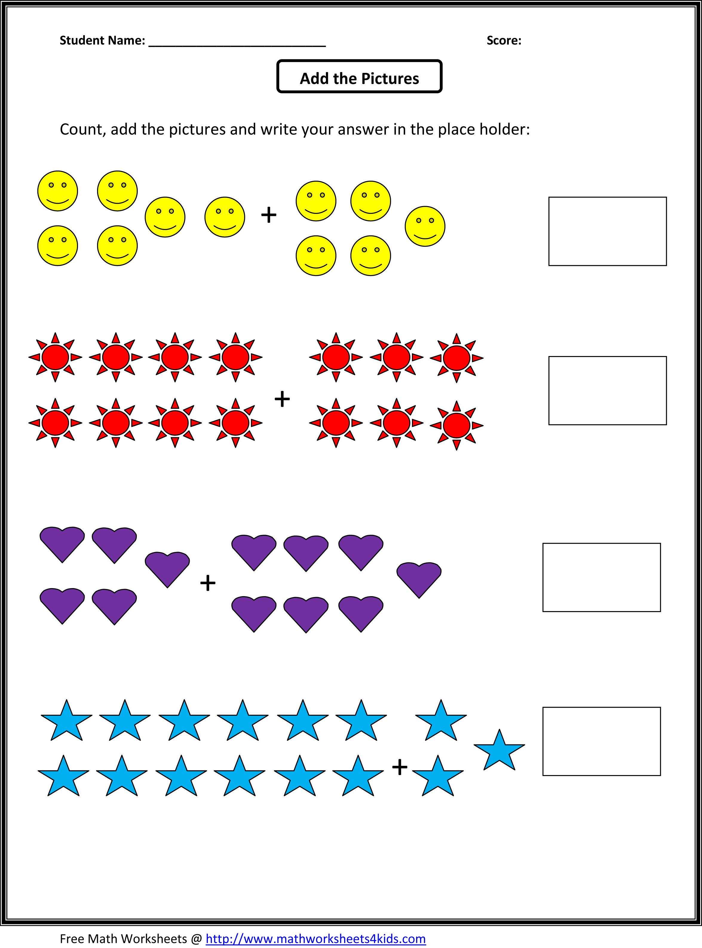Grade 1 Addition Math Worksheets