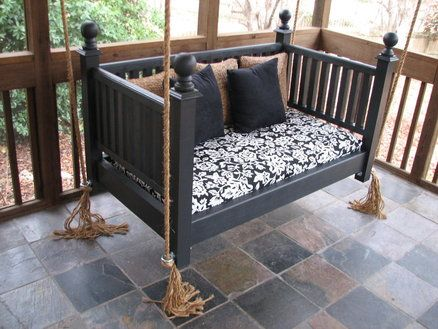 Baby Crib Turned Into Porch Swing I Have The Just Need A