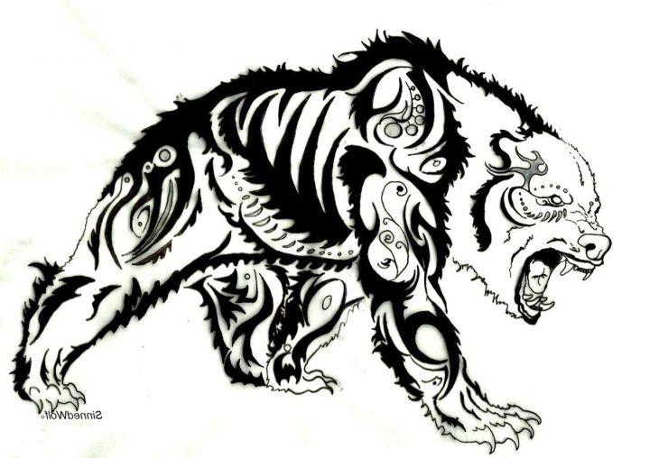 Tribal Bear Drawings Google Search Tribal Drawings Pinterest