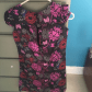 Girls dress floral black with purple red and white flowers dress