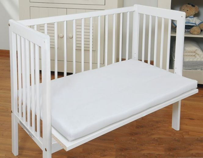 White Baby Co Sleeper Cot Bed Side By With Free Mattress 2 Colours