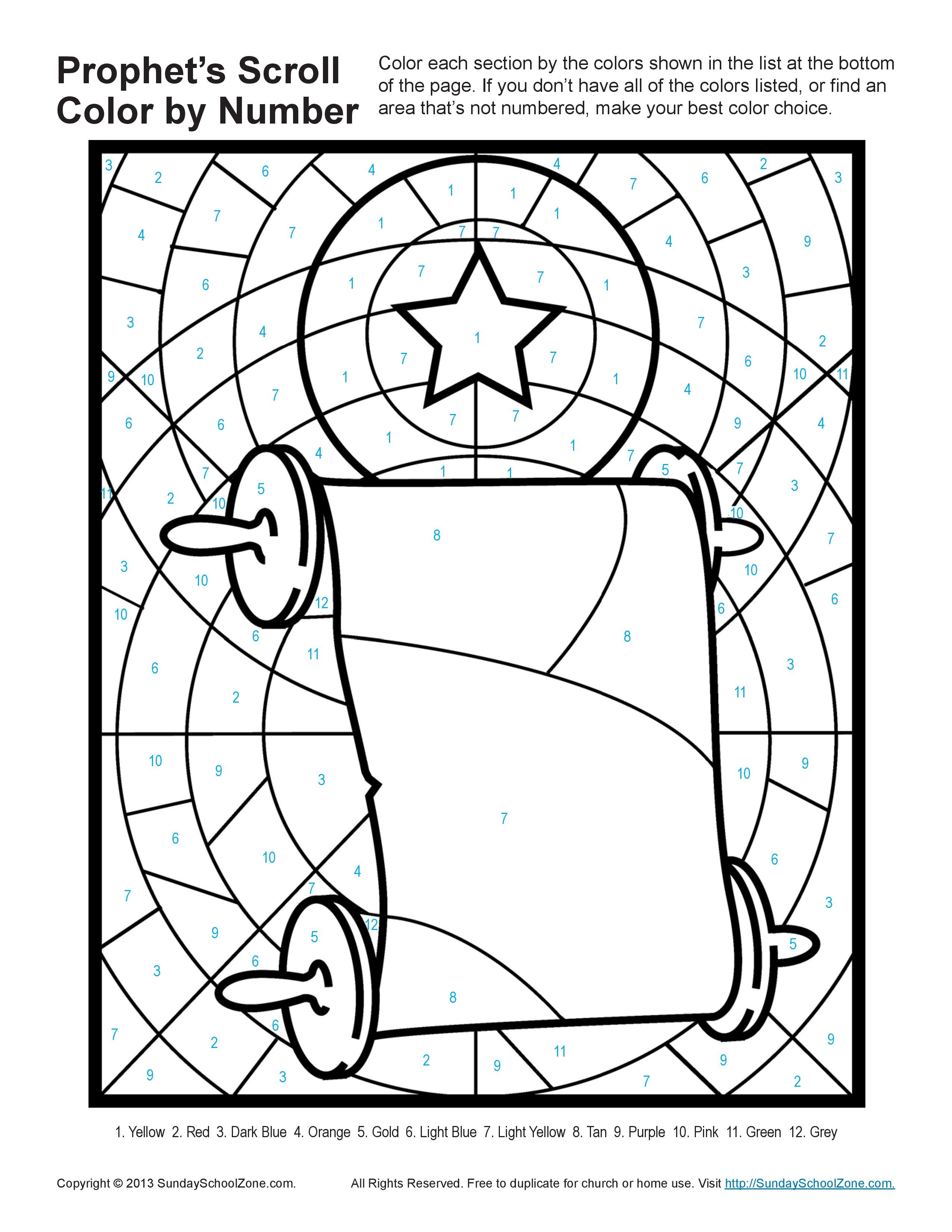 Jeremiah Scroll Coloring Page