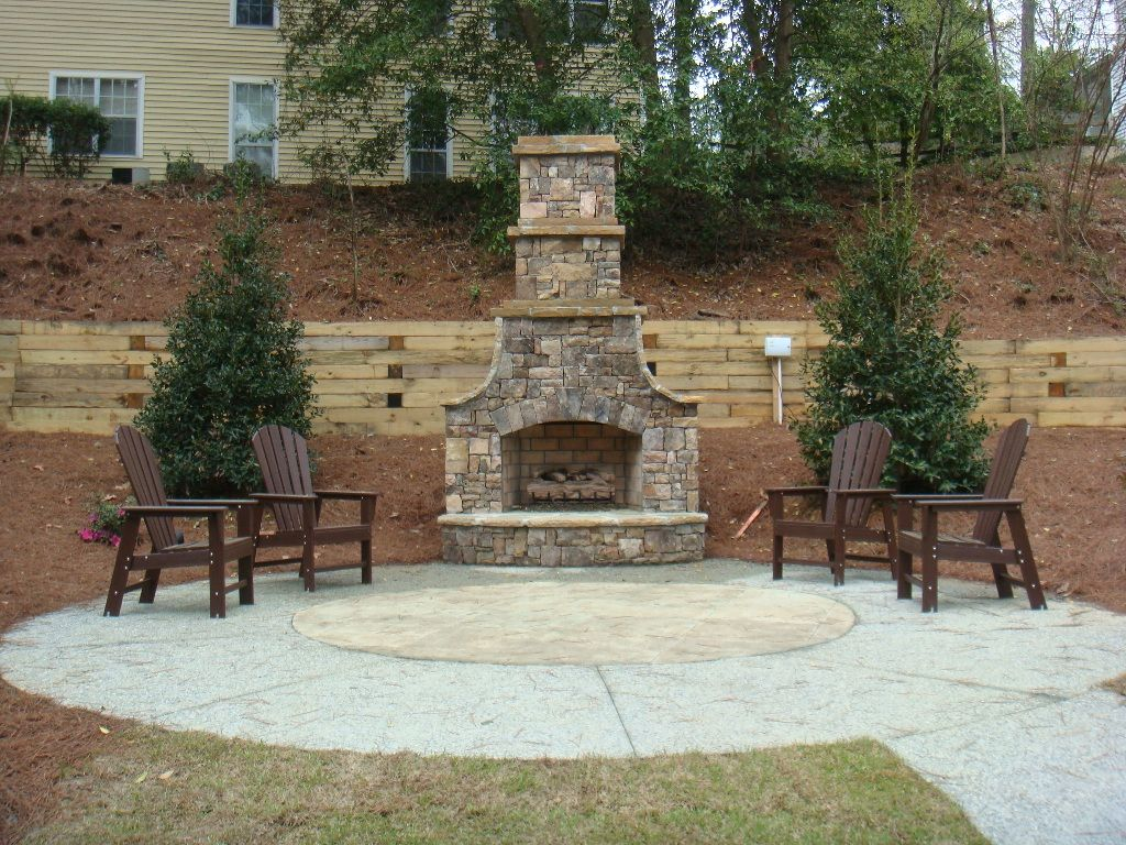 Diy Patio Fireplace Kits Outdoor Stone Style Gas Uk Nz Apstyle Me