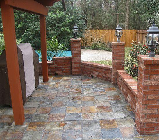 pinterest outdoor patio tiles Beautiful Outdoor Tile Patio Slate   Recipes   Pinterest